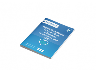 Registre de maintenance défibrillateur