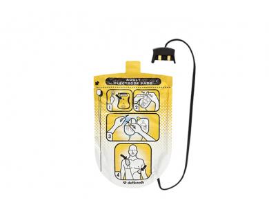 Jeu de 2 électrodes adultes pour Defibtech Lifeline