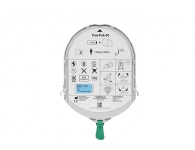 Electrodes et batterie Pad-Pak03 adultes pour HeartSine Samaritan Pad