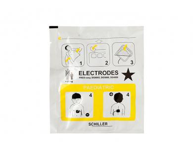 Jeu de 2 électrodes pédiatriques pour Schiller FRED-EASY