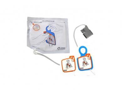 Jeu de 2 électrodes pédiatriques pour Cardiac Science Powerheart G5