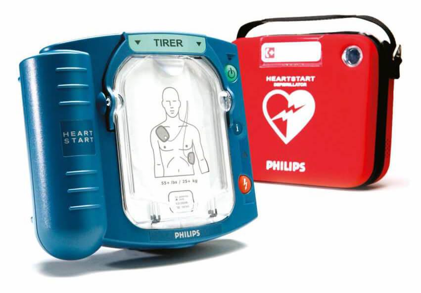 defibrillateur philips heartstart hs1 pour ERP