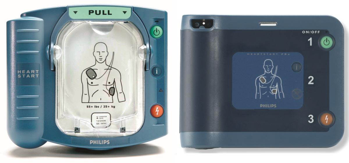 défibrillateur Philips, HS1 et FRx